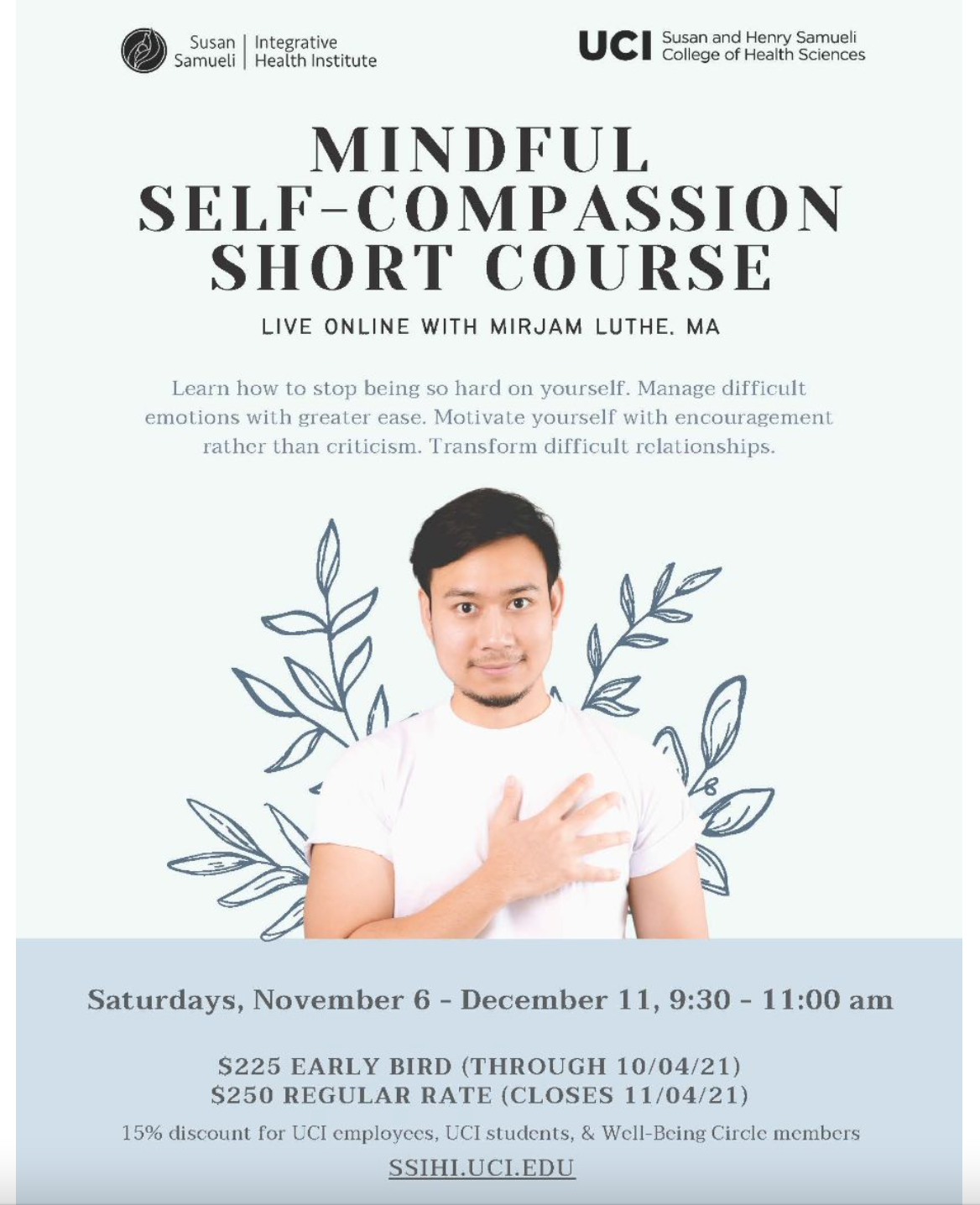 Virtual ONLINE Mindful Self-Compassion Short Course